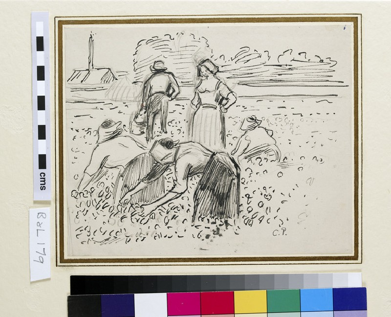 Study of five Peasant Figures working in a Field (WA1952.6.260)