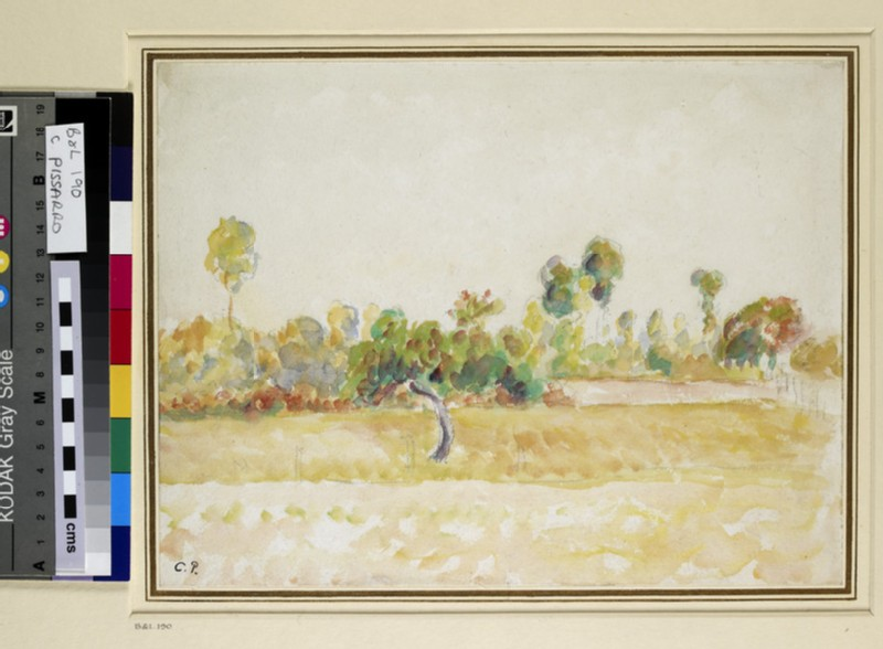 Study of the Orchard at Eragny-sur-Epte, seen from the Artist's House