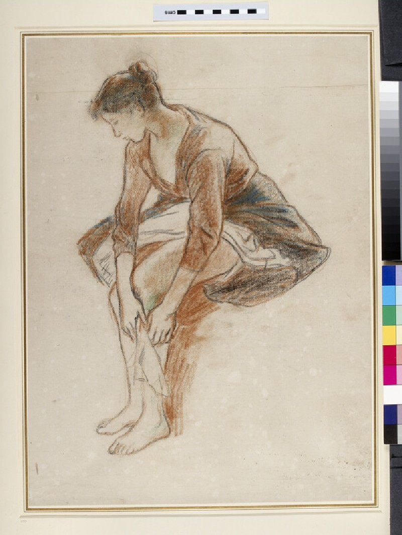 Study of a young woman bathing her legs (WA1952.6.360)