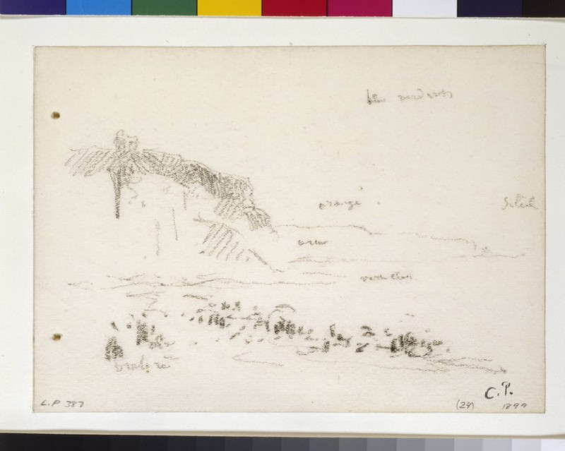 Study of the cliffs at Dieppe (WA1952.6.382)