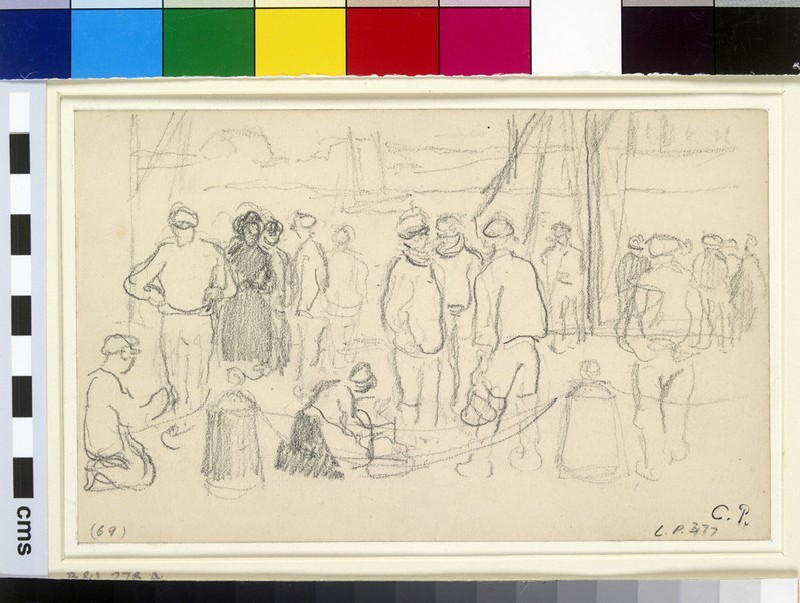 Study of figures on the quayside, Le Havre (WA1952.6.386)