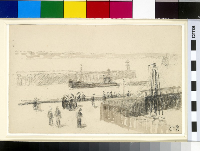 Study of the entrance to the harbour, Le Havre