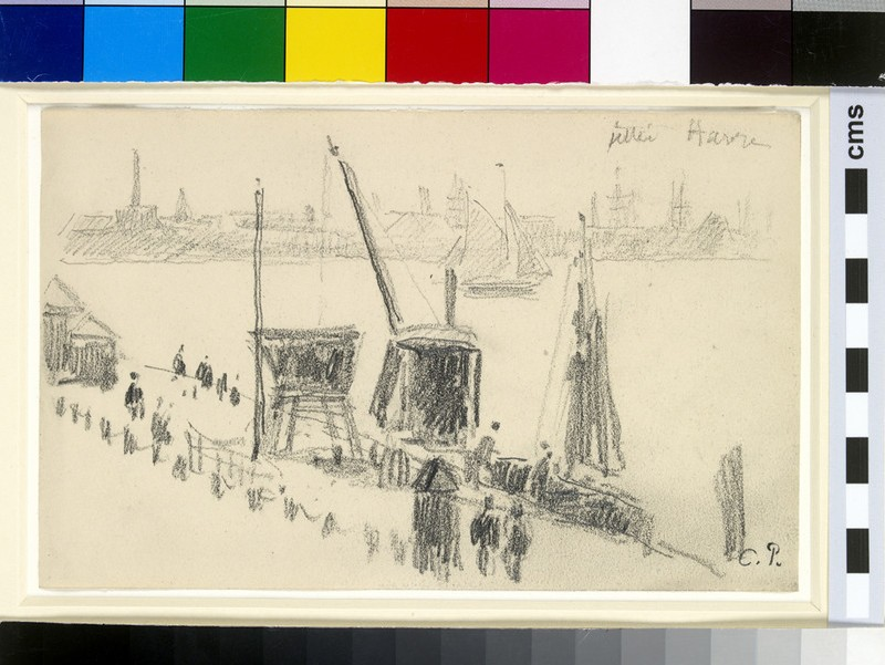 Study of the quayside, Le Havre (WA1952.6.391)