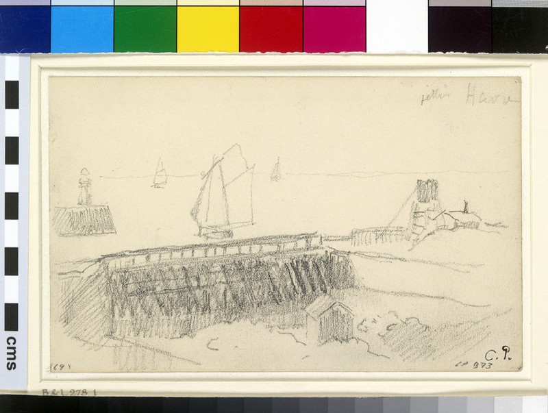 Study of the harbour boom, Le Havre (WA1952.6.394)