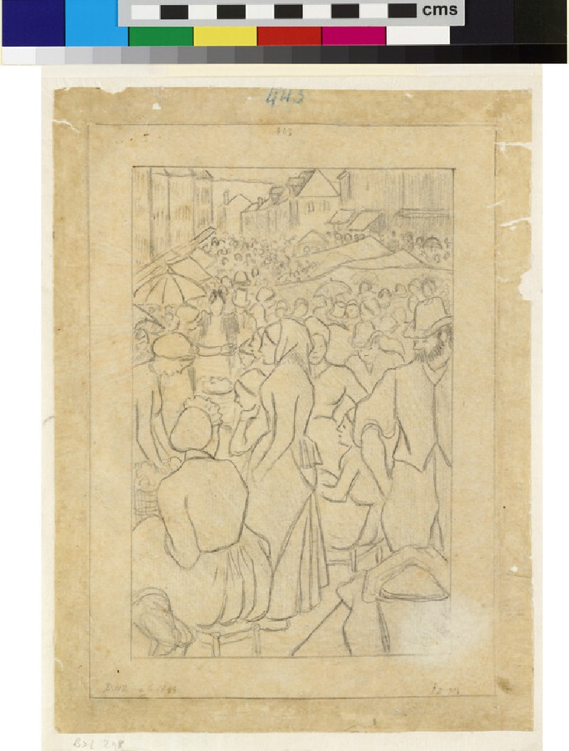 Compositional study for 'Market of Gisors (rue Cappeville)' (WA1952.6.416)