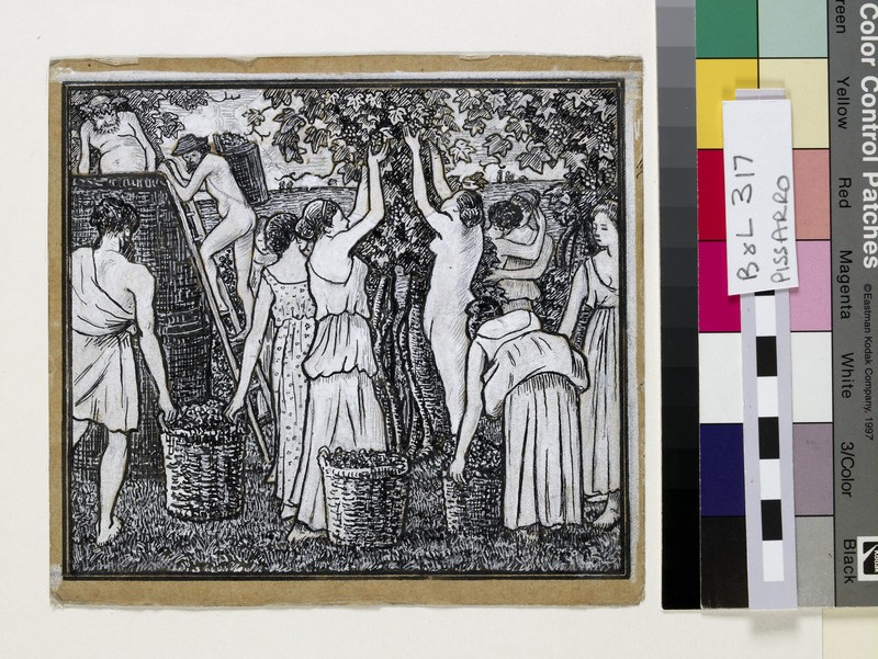 Grape harvest, compositional study for an illustration to 'Daphnis and Chloë' (WA1952.6.435)
