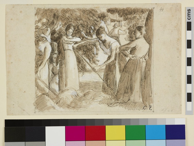 Compositional study of a harvesting scene (WA1952.6.452)