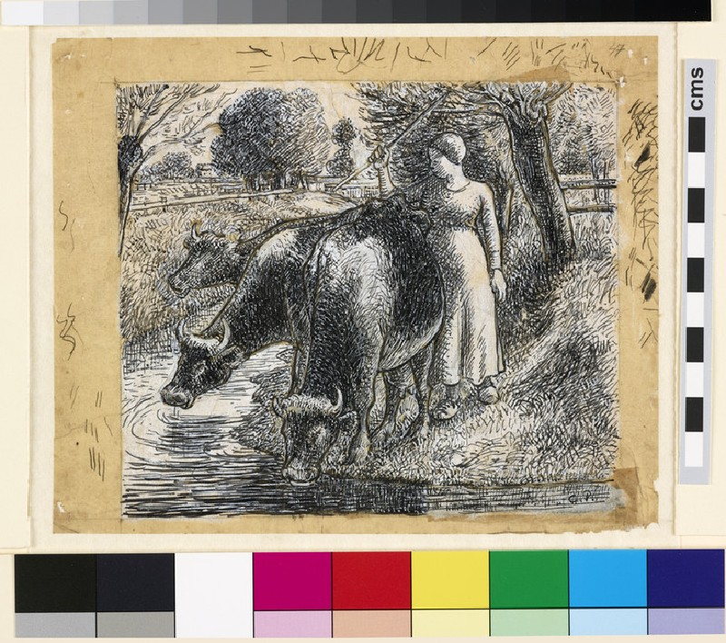 Compositional study of a 'Female Cowherd'