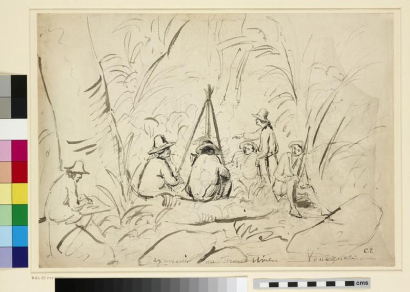 Recto: Excursion au Mont Avila, Venezuela<br />Verso: An Artist sketching a Camping Scene (WA1952.6.46)