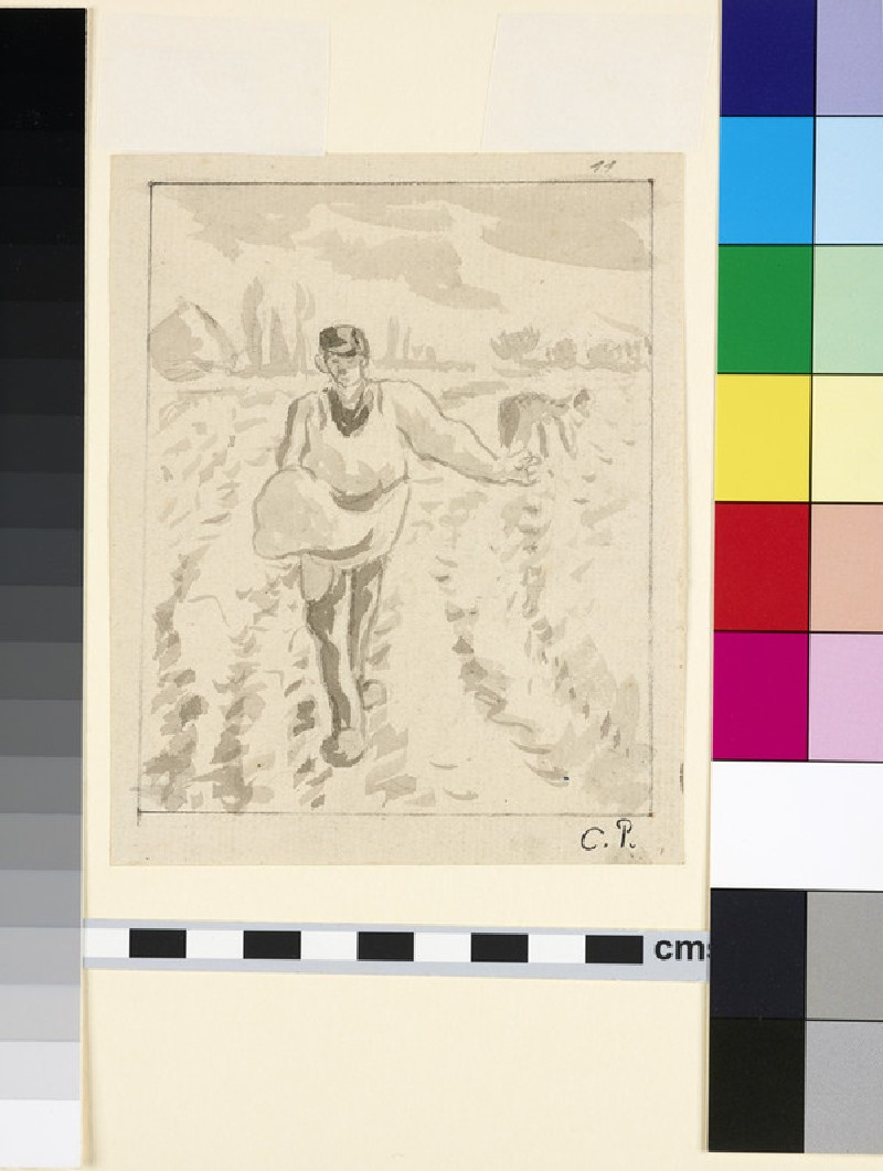 Compositional study of a sower in a field (WA1952.6.475)