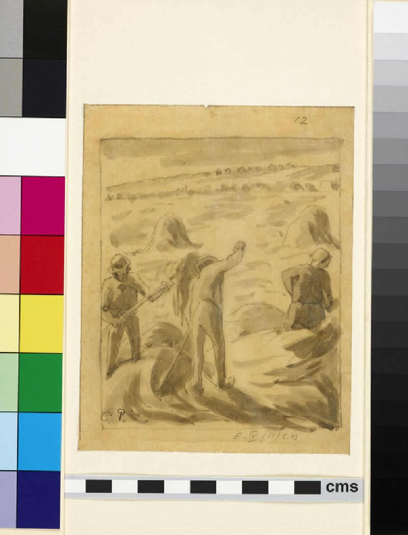 Compositional study of harvesters working in a field (I)