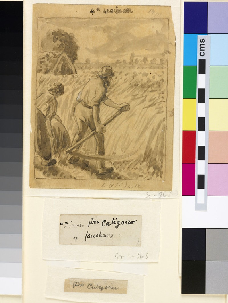 Compositional study of a male peasant scything (WA1952.6.483)