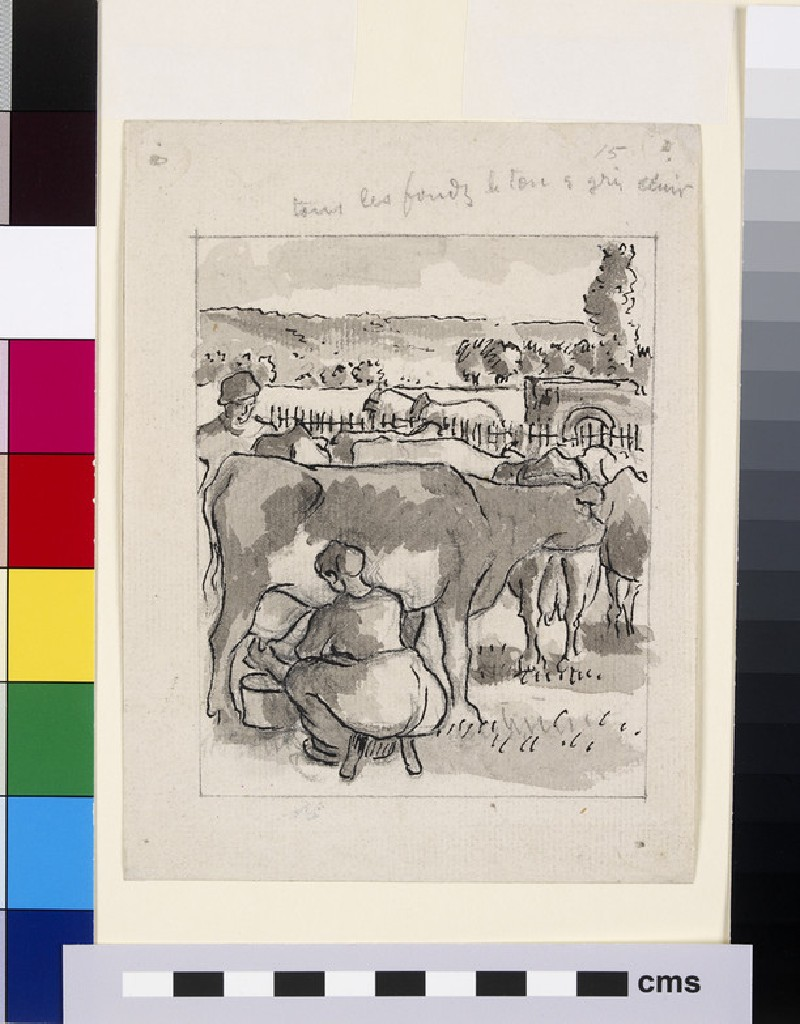 Compositional study of a milking scene (WA1952.6.484)