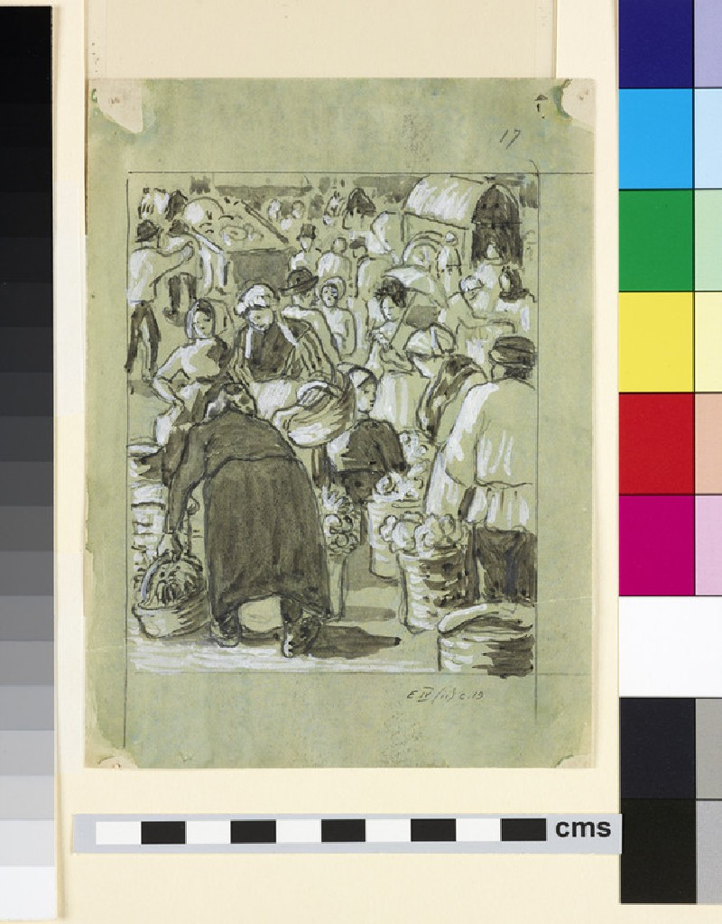 Compositional study of a market (WA1952.6.489)
