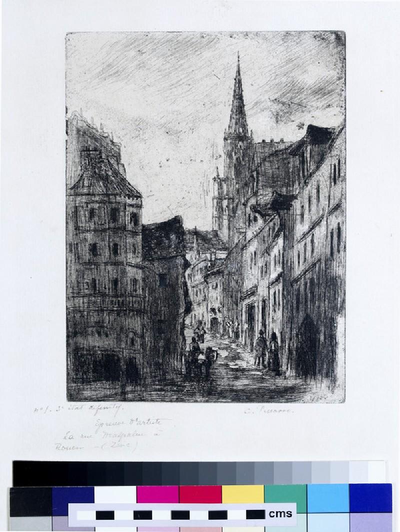 La Rue Malpalue, à Rouen (WA1952.6.558)