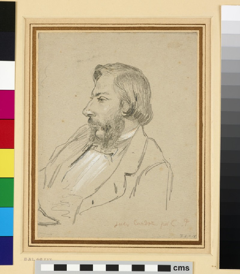 Recto: Portrait of Jules Cardoze<br />Verso: Portrait of the Artist smoking a Pipe (WA1952.6.59)