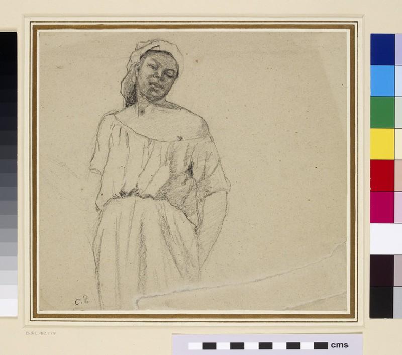 Recto: Study of a black woman<br />Verso: Study of a male figure wearing Spanish costume (WA1952.6.61)