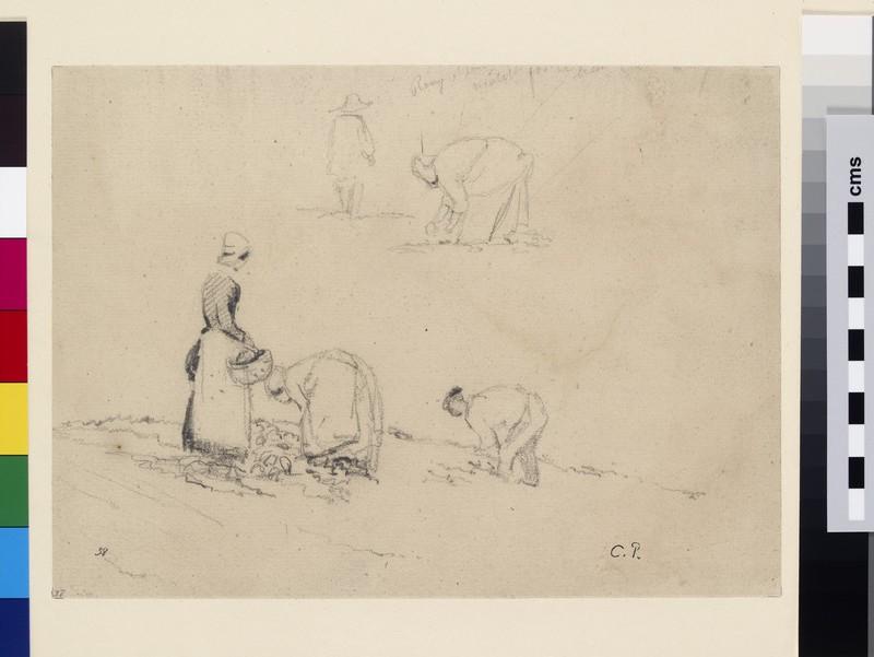 Studies of Peasants working in a Field
