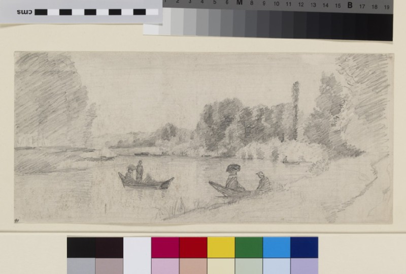 Study of a River Landscape with Boats (WA1952.6.84)