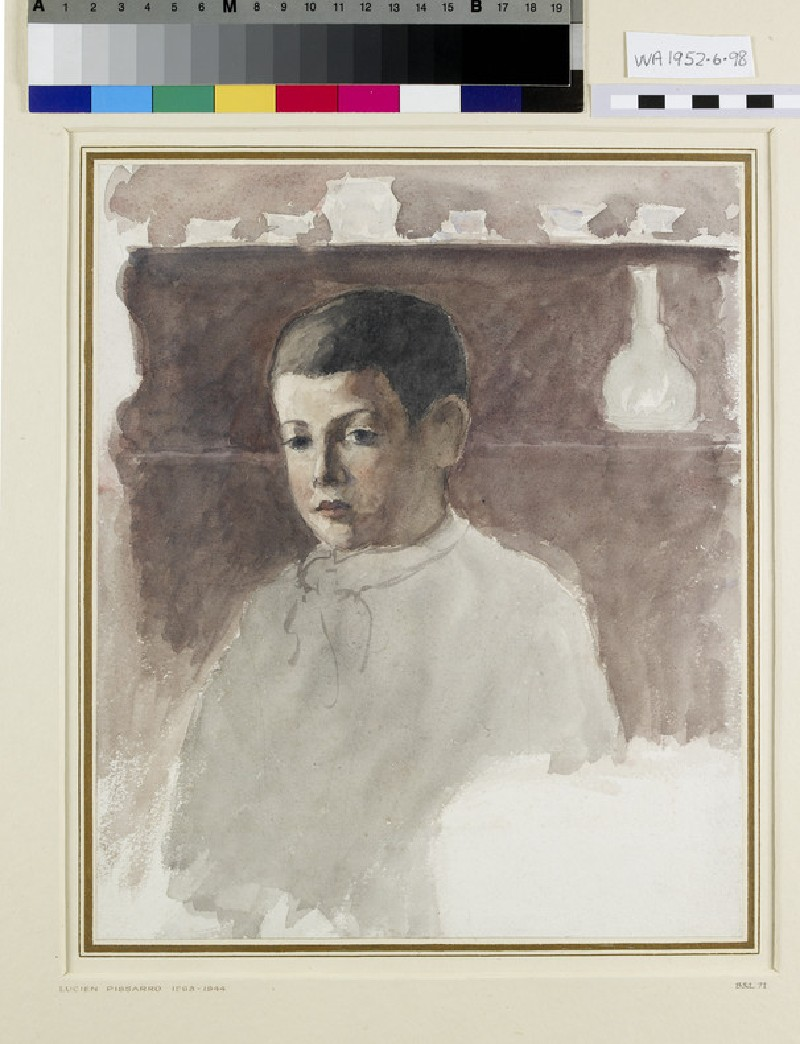 Half-length portrait of Lucien Pissarro (WA1952.6.98)