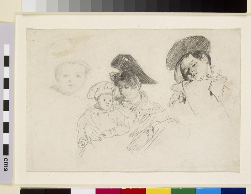 Stagecoach Passengers: Studies of a Woman and Child (WA1952.80)
