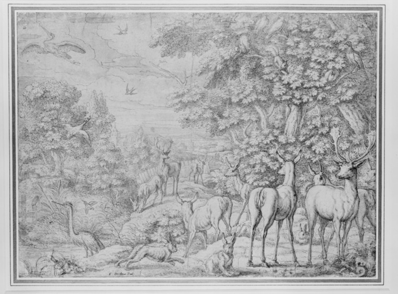 Animals and birds in a landscape (WA1953.26)