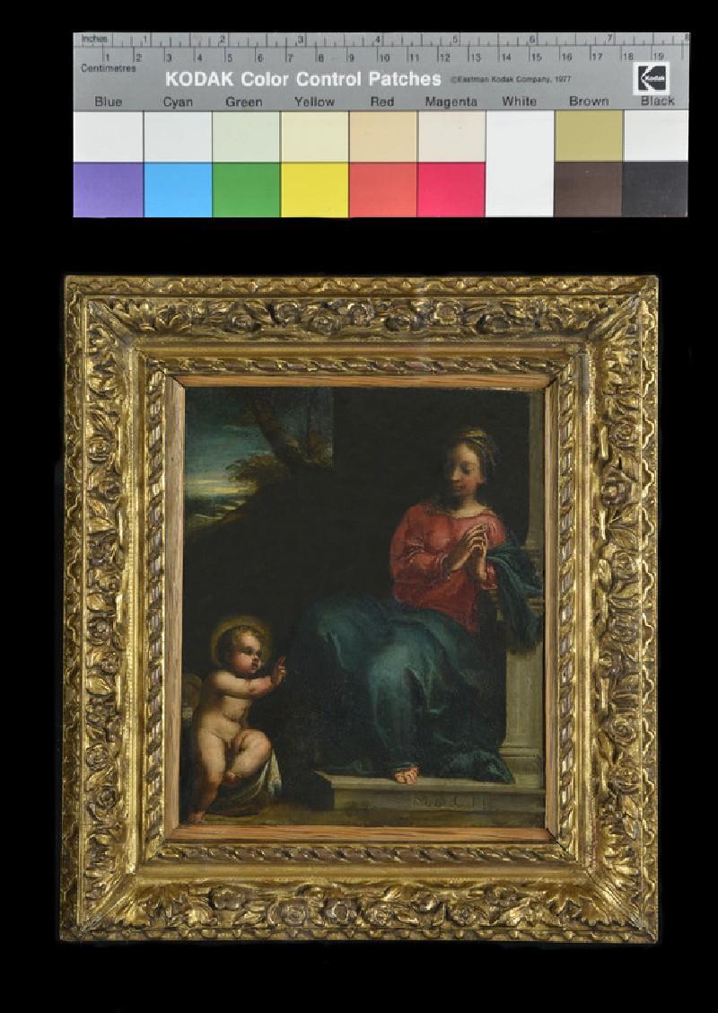 The Infant Christ blessing the Virgin