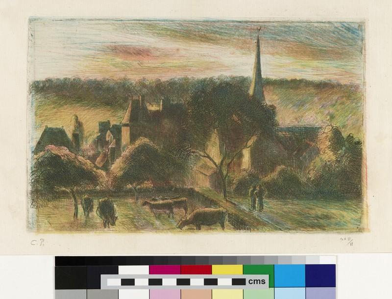 Eglise et ferme d'Eragny (Church and Farm at Eragny) (WA1953.85)
