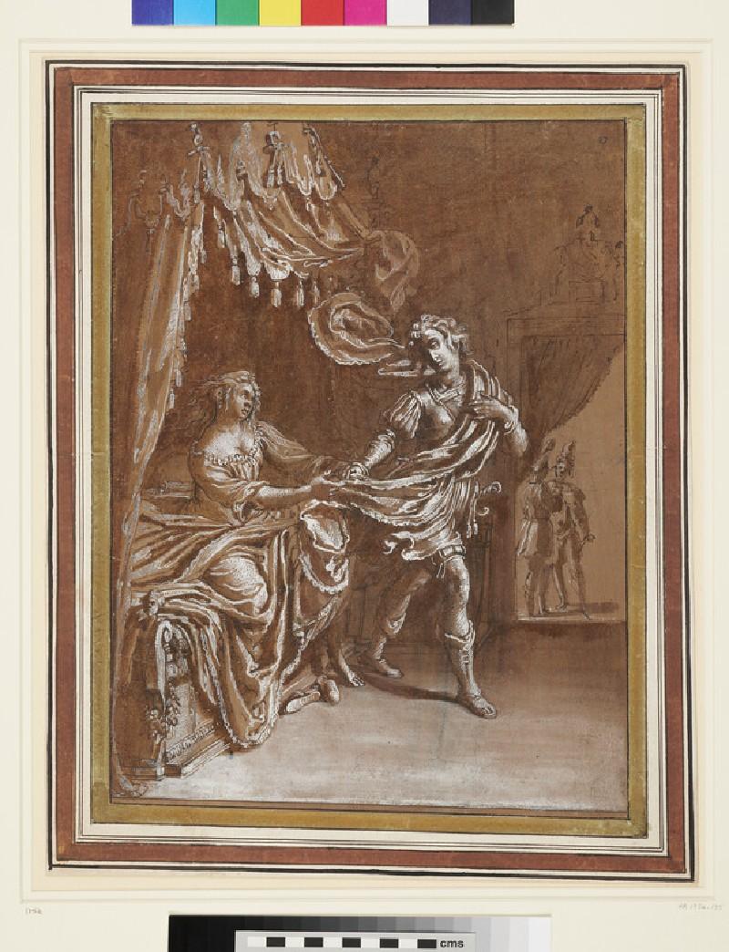 Joseph and Potiphar's Wife (WA1954.135, recto)