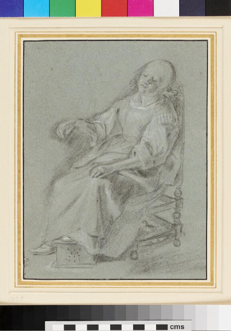Study of a seated Woman (WA1954.144, recto)