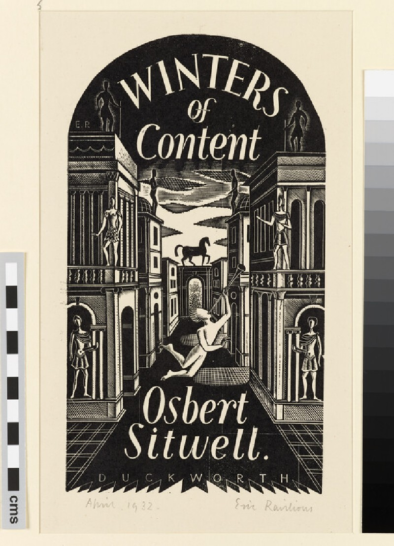 Winters of Content: design for dust jacket (WA1954.157.98)