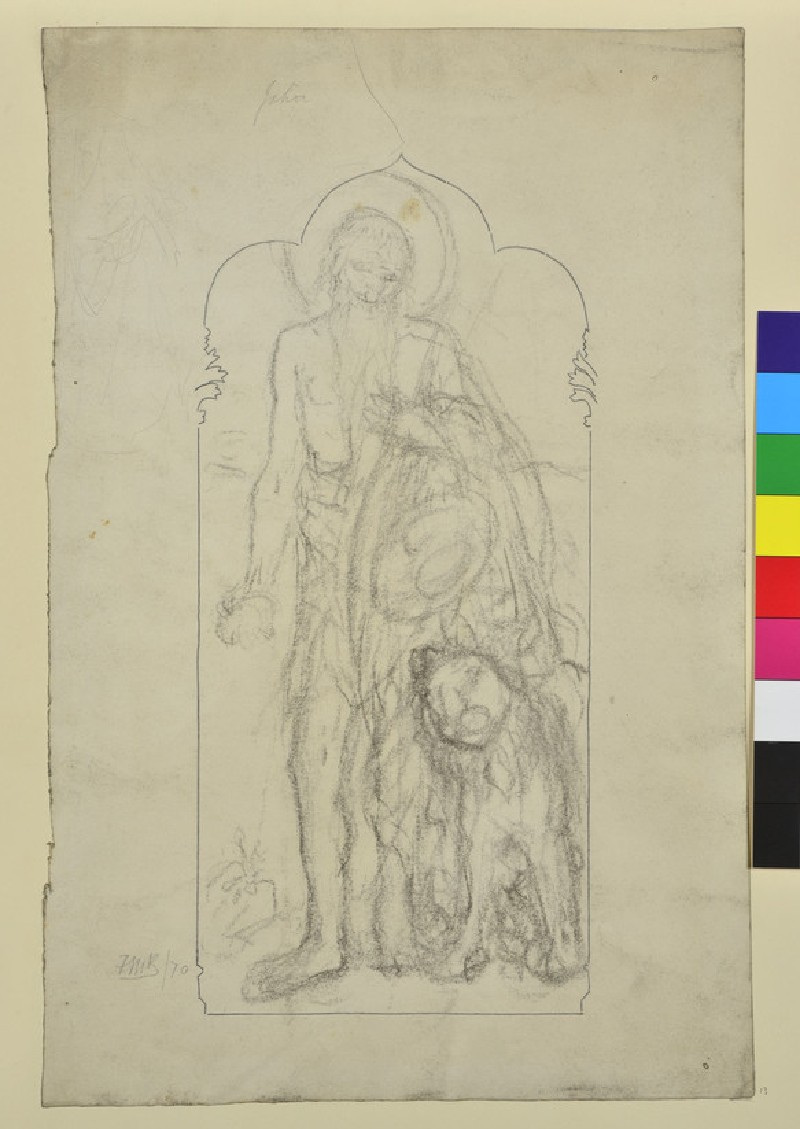 Study of 'St Jerome' for a Pulpit Panel
