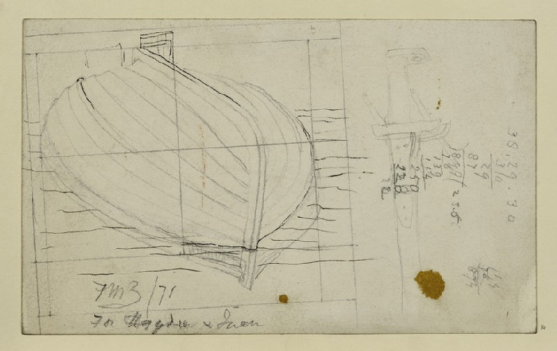 Study of a Boat for 'The Finding of Don Juan by Haïdee'