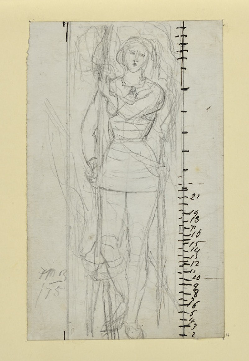 Study of 'Joan of Arc' for a Stained Glass Window (WA1954.161.17)