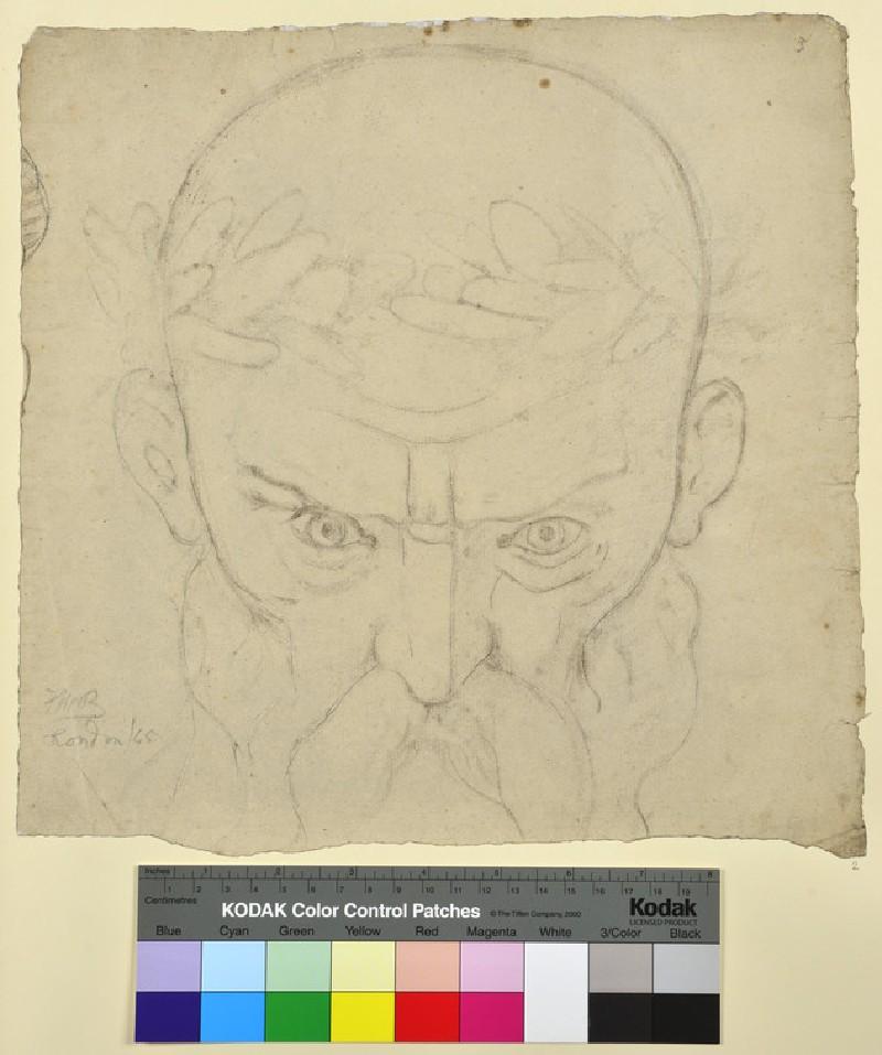 Head of an Old Man wearing a Laurel Wreath