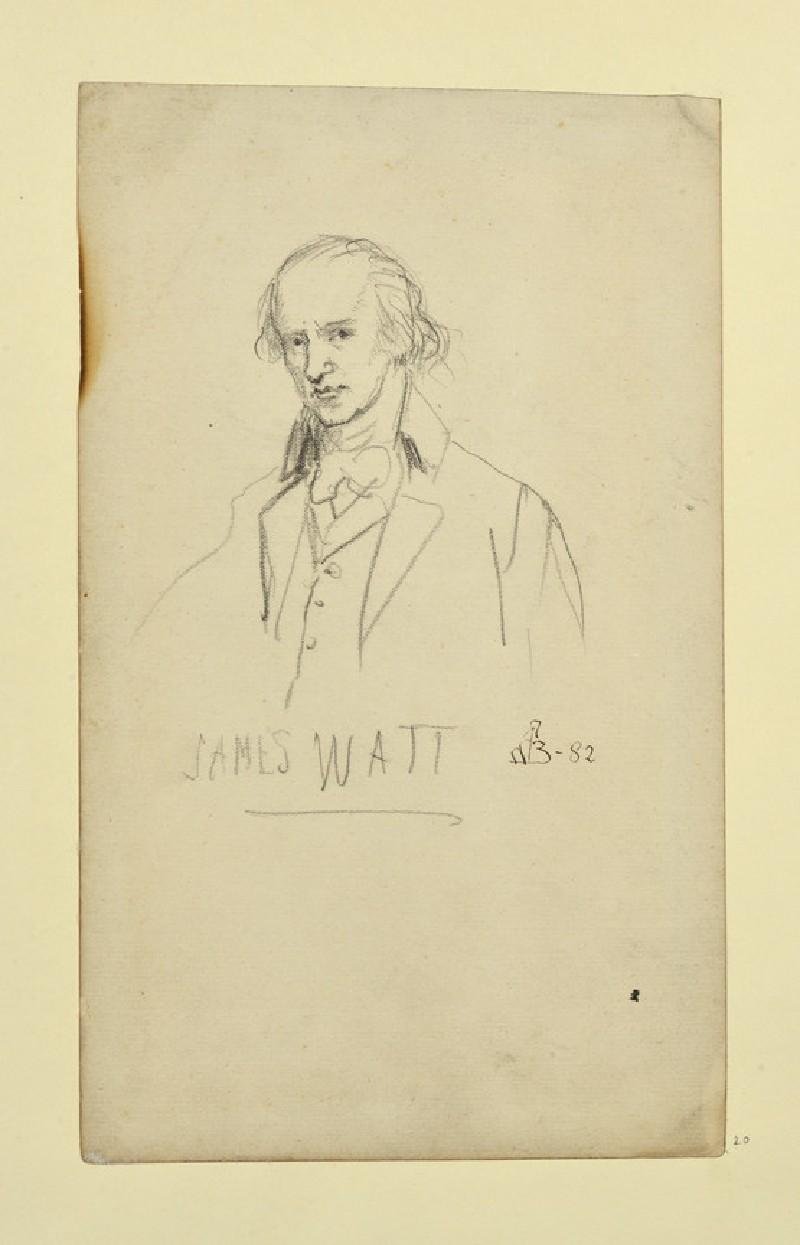 Study of a Portrait of James Watt