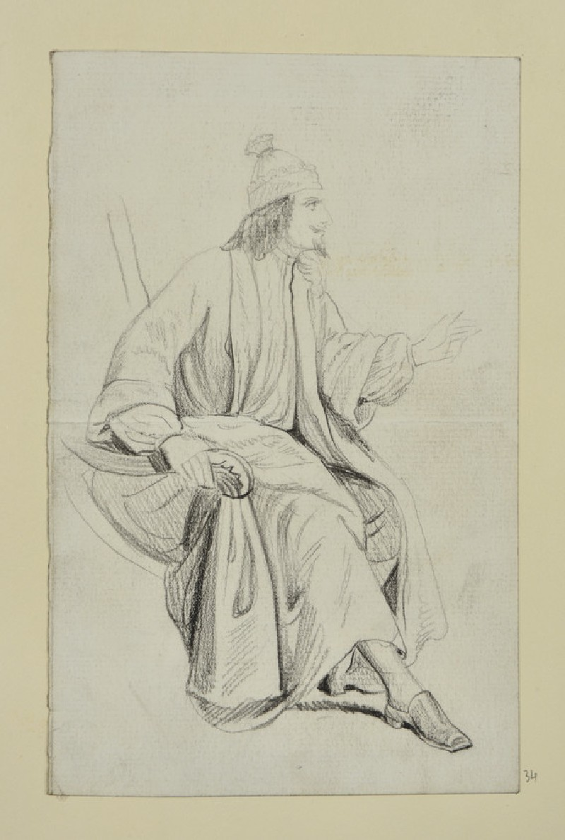 Study of a Man in Robe and Nightcap (WA1954.161.34)
