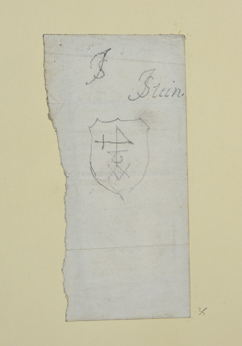 Sketch of a Shield with Device (WA1954.161.35)
