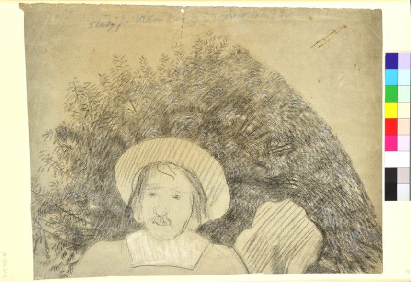 Study of Willow Leaves for 'Cromwell on his Farm'
