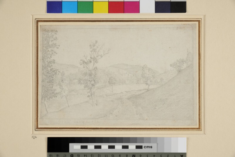 Landscape with Trees beside a River (WA1954.70.124, recto)
