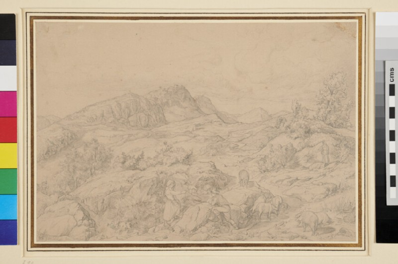 Landscape with Swineherds near Civitella