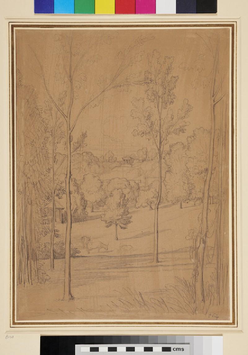 Romantic Park Landscape (WA1954.70.134, recto)