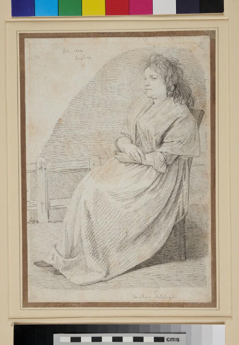 Portrait of Frau Marie Christine Schlegel (WA1954.70.146, recto)