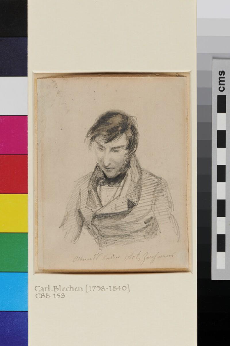 Portrait Study of Carl Blechen (WA1954.70.165, recto)