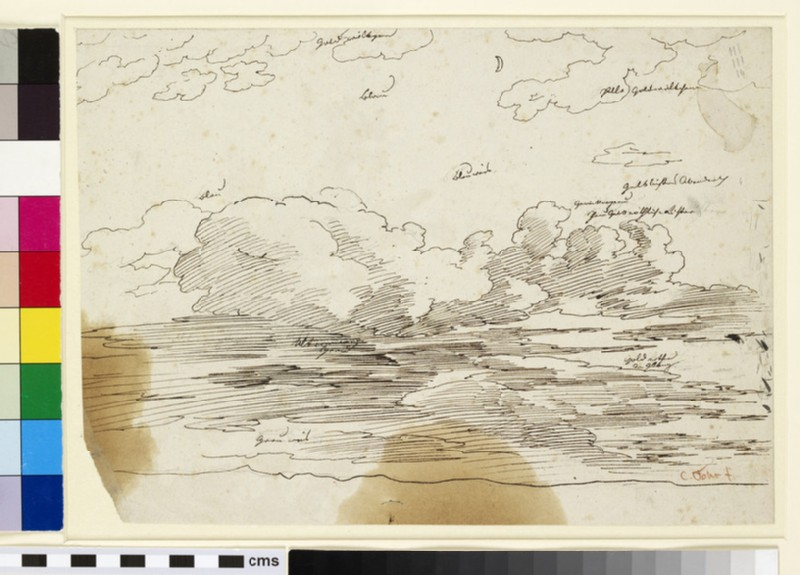 Recto: Study of Clouds 