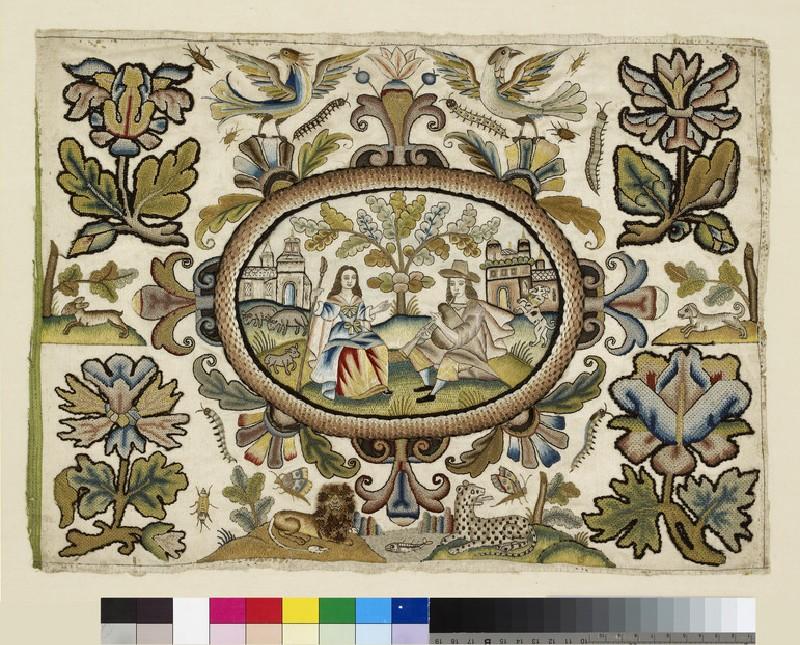 Textile panel with Pastoral Scene (WA1954.90)