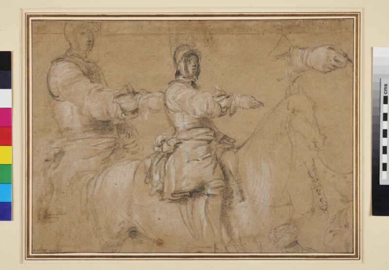 Studies of a Horseman (WA1955.30, recto)