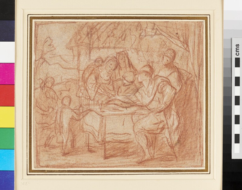 Group of Figures seated round a Table (WA1955.50, recto)