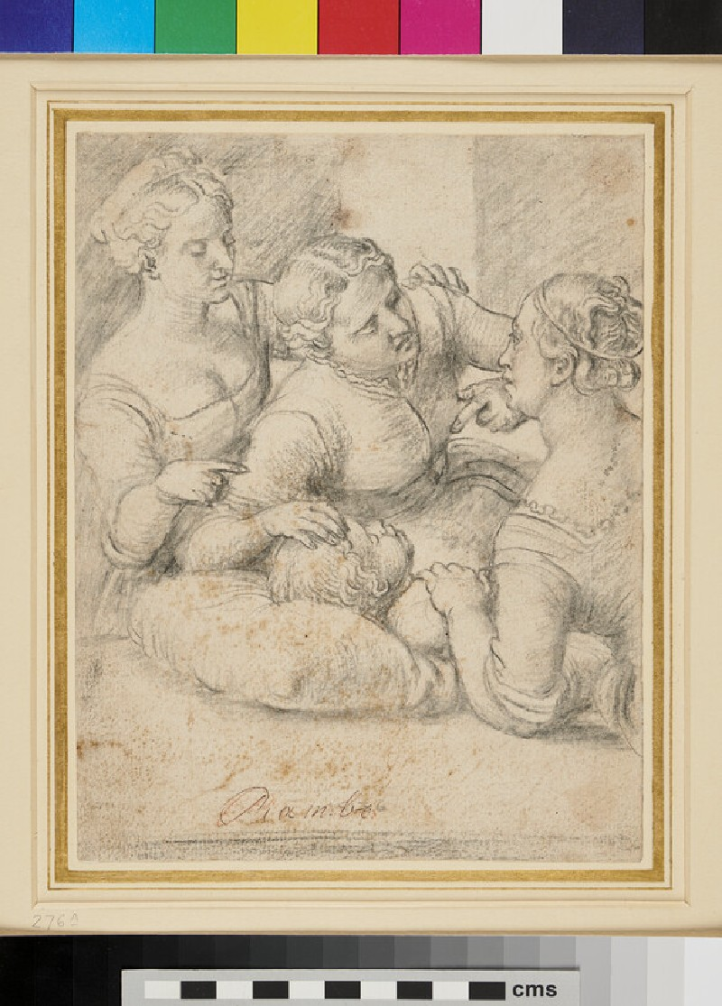 Three Women with a sleeping Child