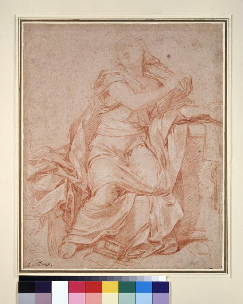 The penitent Magdalen, turned to face upper left